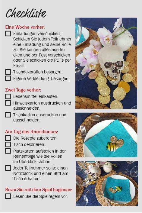Checkliste   Mordsappetit Krimidinner