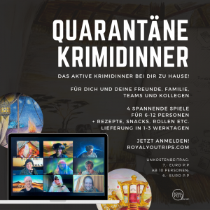 Krimidinner live spielen per Video Chat