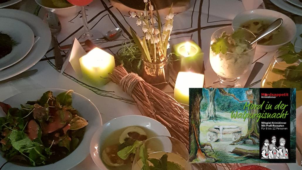 Mord in der Walpurgisnacht - Krimidinner Magier und Zauberer Tischdeko
