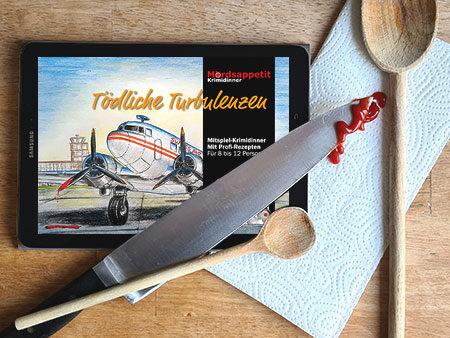 Tödliche Turbulenzen - Krimidinner Flugzeug und Filmcrew